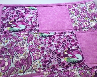 Purple and Pink Arizona Fox Baby Crib Quilt