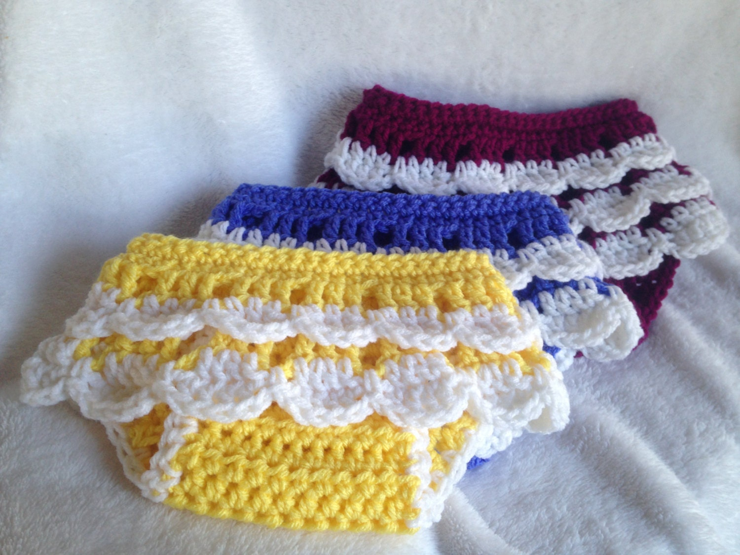 Crochet Baby Girl Diaper Cover Pattern : Crochet PATTERN ruffled diaper cover crochet baby skirt