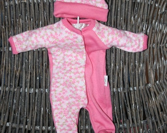 """Reborn girl doll clothes ~coverall with hat ~fits a 11"""" doll"""