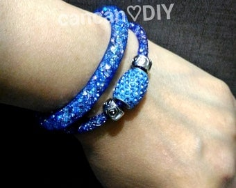 Blue colour Stardust bracelet , cancandiy