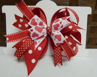 Hearts a Plenty Boutique Stacked Bow