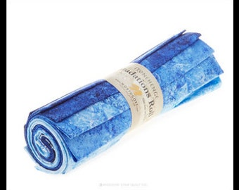 Northcott - Stonehenge Gradation Brights - Indigo - Blue - Fat Quarter Roll