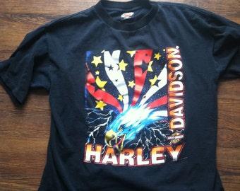 Vintage Harley Davidson (bald eagle print) Shirt, motorcycle, biker t-shirt