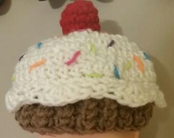 Cute Crochet Cupcake Hat