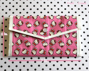 Ladies Duct Tape Wallet - Hello Kitty