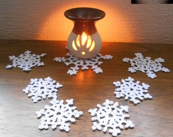 SALE Crocheted snowflakes, christmas decoration