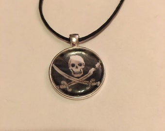Pirate Flag necklace