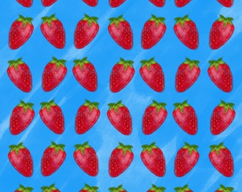 Digital Strawberry Print