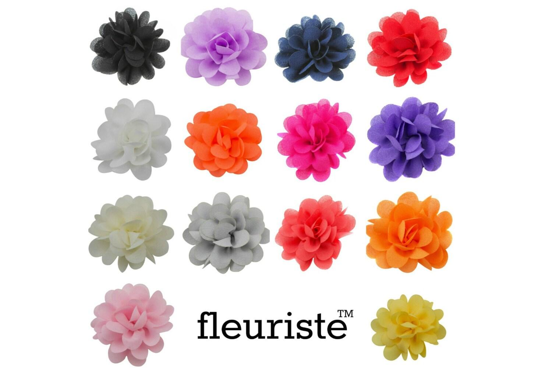 Small Fabric Flower Chiffon Flower Wholesale Flower Fabric