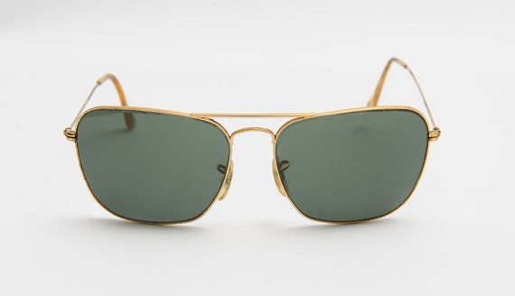 Vintage Ray-Ban sunglasses metal Gold with box case