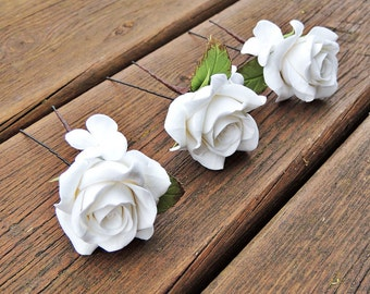 Hairpins with roses , decorative Hairpins , Hairpins with roses , Hair Accessory , Accessories bride, Handmade Hairpins