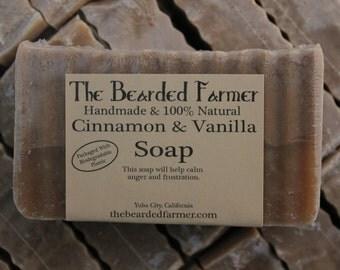 Cinnamon and Vanilla Natural Soap - The Bearded Farmer