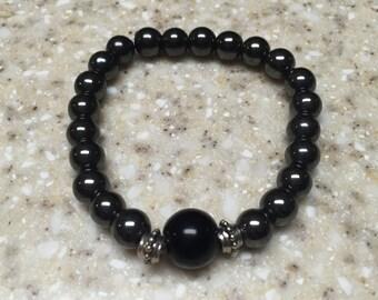 8 mm Hematite bead stretch bracelet