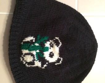 Hand made panda hat