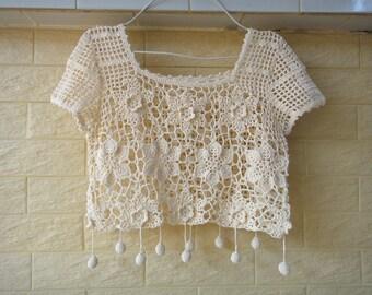 Boho Crochet Crop Top