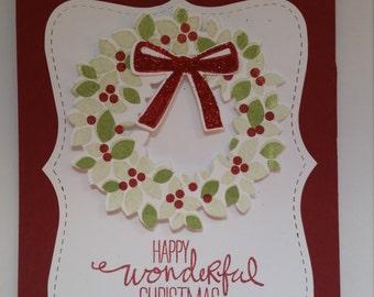 Christmas Wreath Christmas cards - set of ten