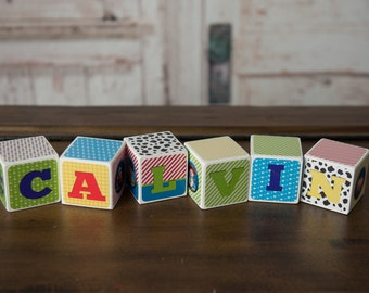 Baby Name Blocks - Nursery Name Blocks - Name Blocks - Baby Shower Gift, Toy Story Theme Name Blocks - Toy Story