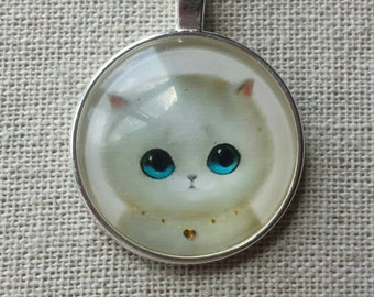 Adorable kitty cat pendant necklace