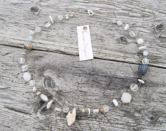White Shell Necklace by Janine Drayson