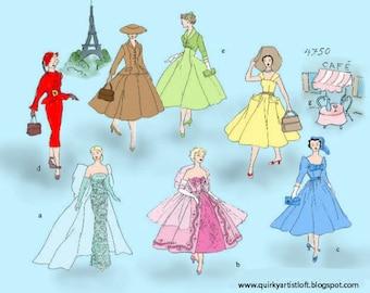 Pattern: Vintage Barbie 'In Paris' - Doll Clothing