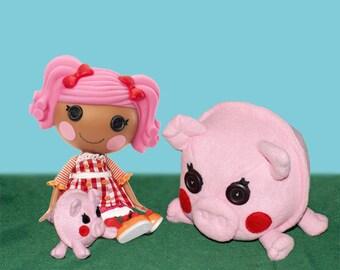PDF Pattern, Pig Plush, Stuffed Animal