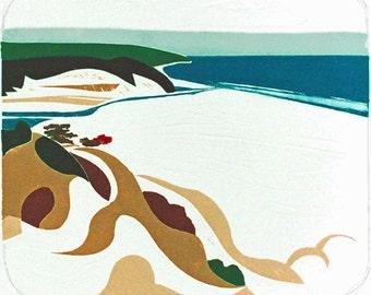 Eli Beach (Collagraph)