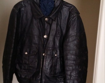 Vintage black leather Police Jacket - Price Reduction & Free Shipping