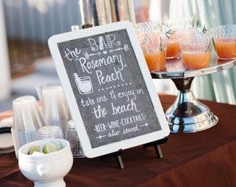 Custom Wedding Bar Menu