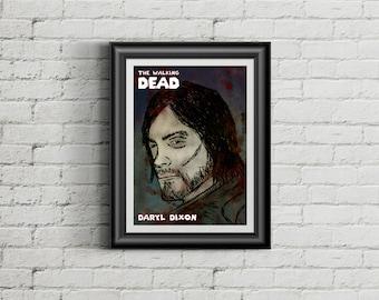 The Walking Dead Daryl Dixon Comic Poster / Print