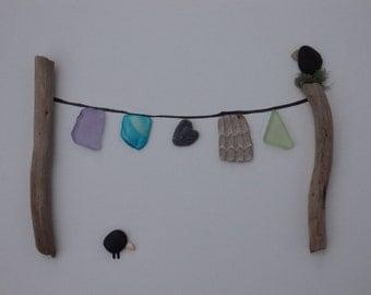 Pebble Art, Clothesline Series, Nesting