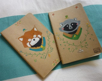 Small notebook / / Illustration of handmade Moleskine notebooks