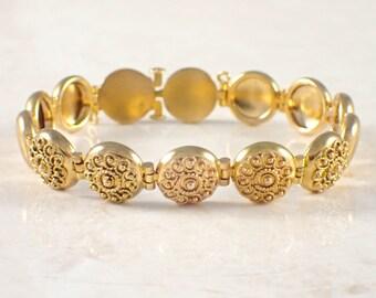 14K Yellow Gold Antique Bracelet
