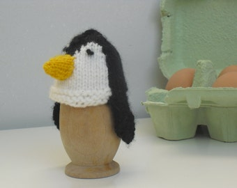 egg cosy, pinguin