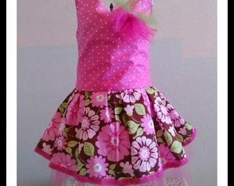 Easter, birthday pink polka dot dress