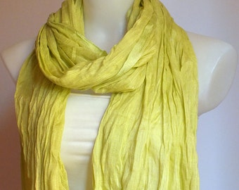 Summer cotton scarf Soft cotton scarf Lıght green scarf Women fashion accessories Spring Summer accessories Gift ideas For her BOHO
