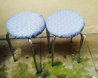 Small liberty flowers (refreshed 2) stools retro vintage spring