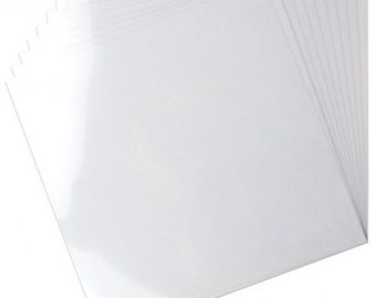 12 x 12 Clear Card Stock - Heartfelt Creations Card Stock - Heavy Weight Card Stock - Clear Card Stock - Clear Paper 12x12