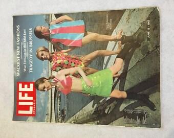 Vintage Life Magazine Paco Rabanne 1967 60's Fashion