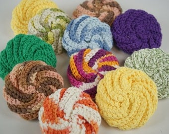 Crocheted Spiral Scrubbies
