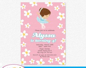 Ballerina Printable Invitation