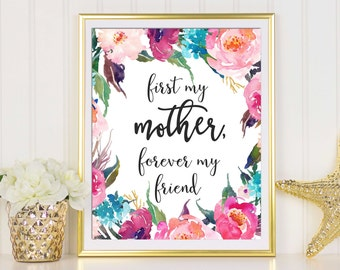 Mother's Day Printable, Mums Gift, Mothers Day Gift, Digital Print, Wall Art Printable, Gifts For Mom, Floral Wall Art, Mothers Day Decor
