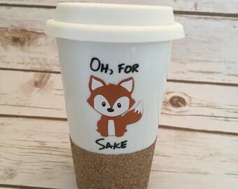 To Go Coffee Mug Ceramic - Travel Mug, Coffe Mug, Tea Mug, Travel Cup