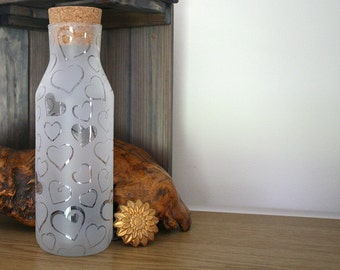 Frosted/etched glass Vessel