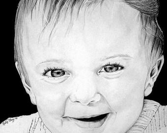 Custom Portrait in Pencil Graphite (From Photo)