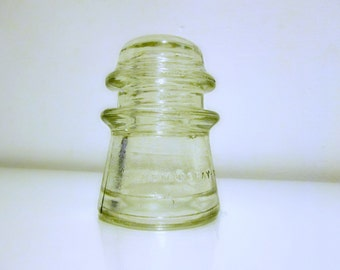Vintage Clear Glass Insulator (Hemingray 17)