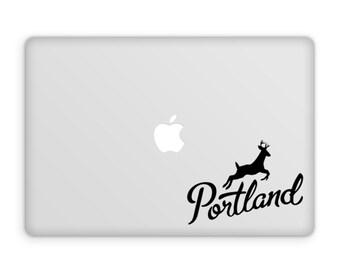 Portland Decal, Vinyl Decal, Portland Art, Portland Gifts, Portland Oregon, Stag