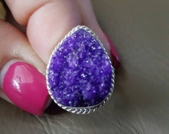 Druzy Ring- size 8.75! REDUCED!