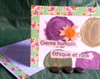 Map human kind, unique collage