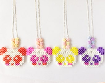 Kawaii Fairy Kei panda necklace - Decora Kei, Mahou Kei, Sweet Lolita & Harajuku etc inspired