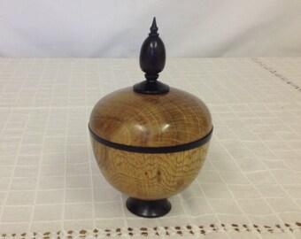 Oak Lidded Box